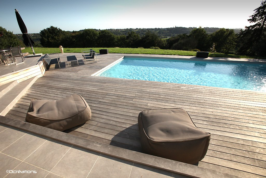 Piscines d ext rieur at for Jardin et piscine design